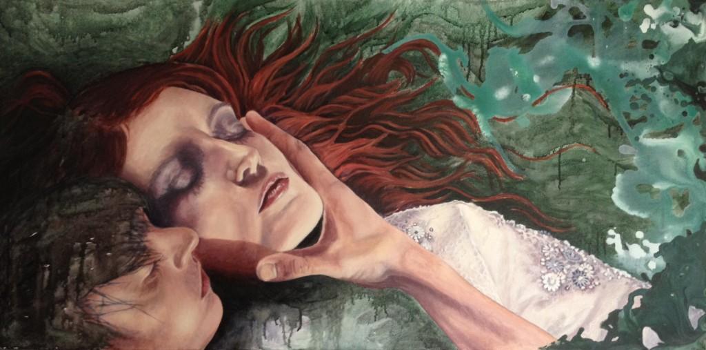 """""""Now I Am Under"""": een schilderij gemaakt door Mirjam Kleywegt."""