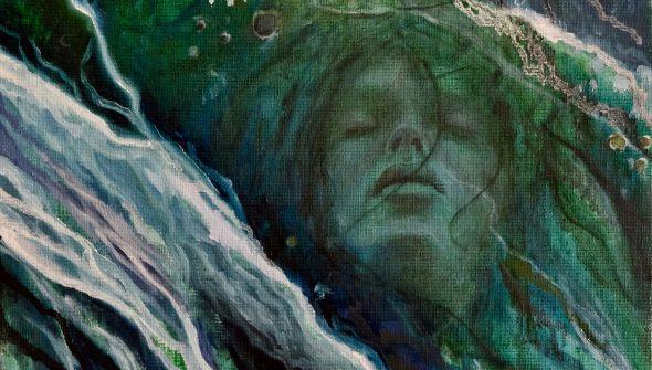 """""""It's Me"""": een schilderij gemaakt door Mirjam Kleywegt."""