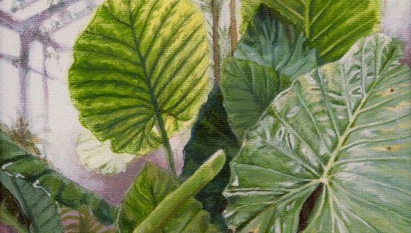 schilderij van Botanische Tuinen in Madrid