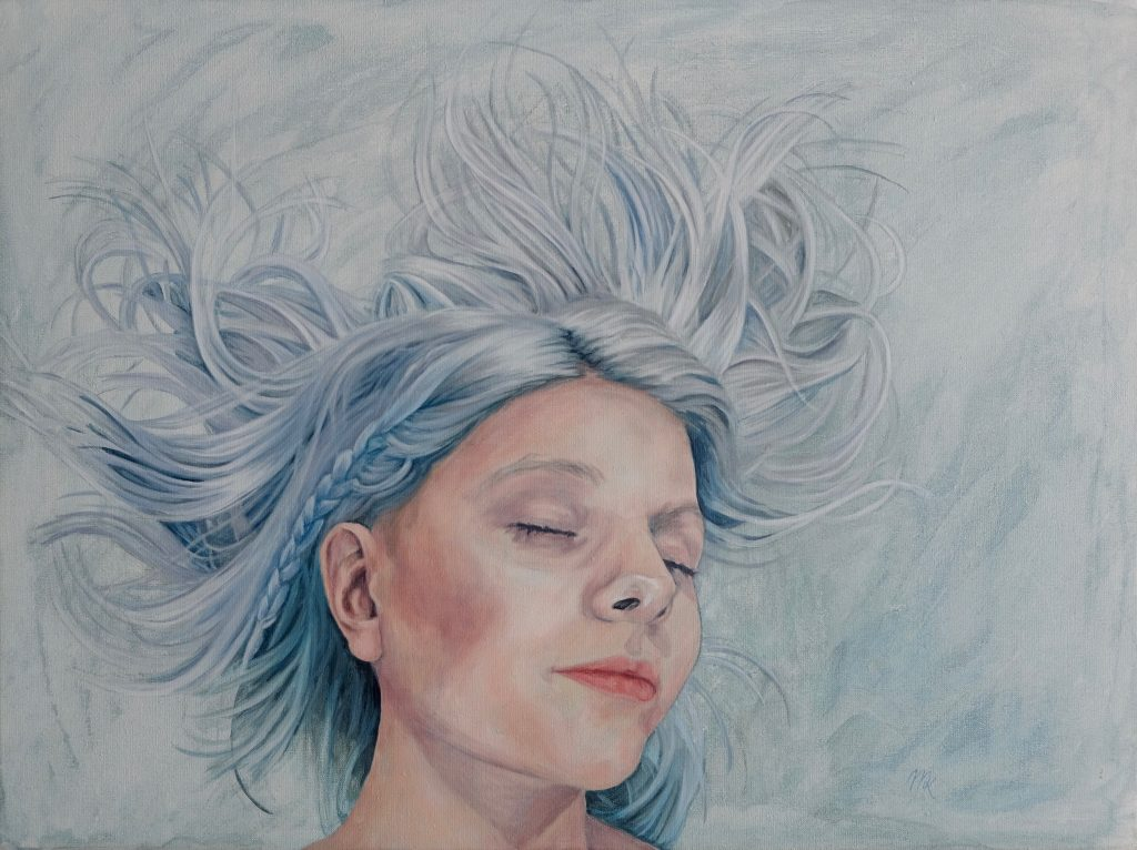 'Here I Go' - a painting made by Mirjam Kleywegt